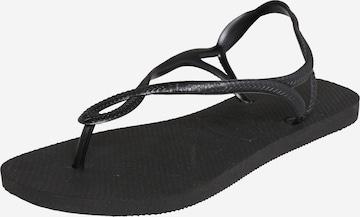 HAVAIANAS T-Bar Sandals 'Luna' in Black