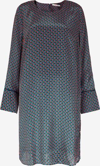 BLOOM A-Linien-Kleid mit Rundhalsausschnitt in grün / rot, Produktansicht