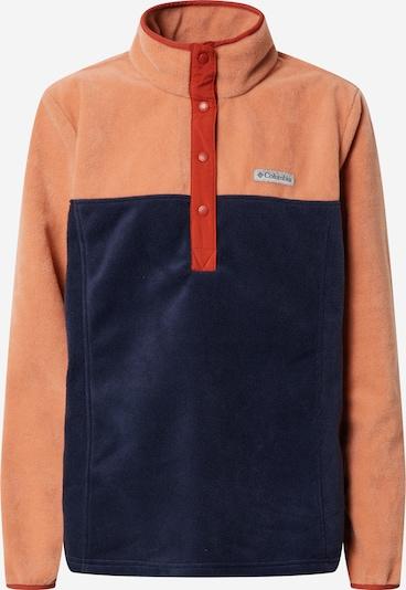 COLUMBIA Športna majica 'Benton Springs™' | mornarska / pastelno oranžna barva, Prikaz izdelka
