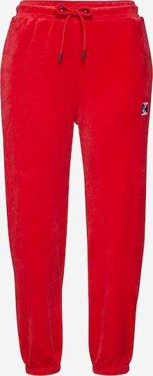 Karl Kani Broek 'KK Retro Velvet Trackpants' in de kleur Rood, Productweergave