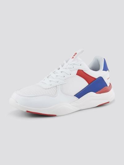 TOM TAILOR DENIM Shoes Sneaker mit Farbdetails in weiß, Produktansicht