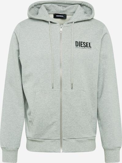 DIESEL Sweatjacke 'S Girk Felpa' in graumeliert / schwarz, Produktansicht