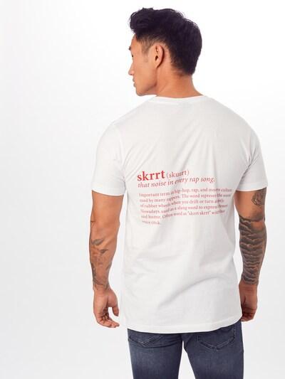 Mister Tee Shirt 'That Noise Tee' in de kleur Rood / Wit: Achteraanzicht