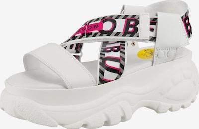 Buffalo London Bo Plateau-Sandaletten in weiß, Produktansicht