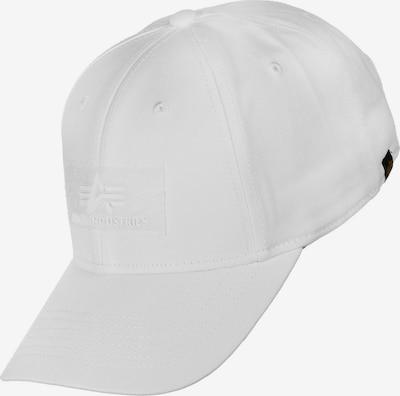 ALPHA INDUSTRIES Čiapka - biela, Produkt