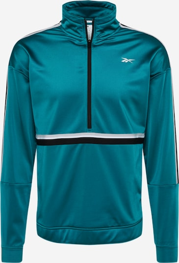 REEBOK Trainingsjacke in pastellblau / schwarz / weiß, Produktansicht