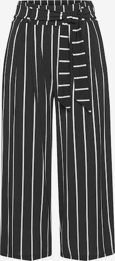 LASCANA Pleat-front trousers in black / white, Item view