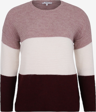 ABOUT YOU Curvy Pullover 'Larissa' in creme / rosa / bordeaux, Produktansicht