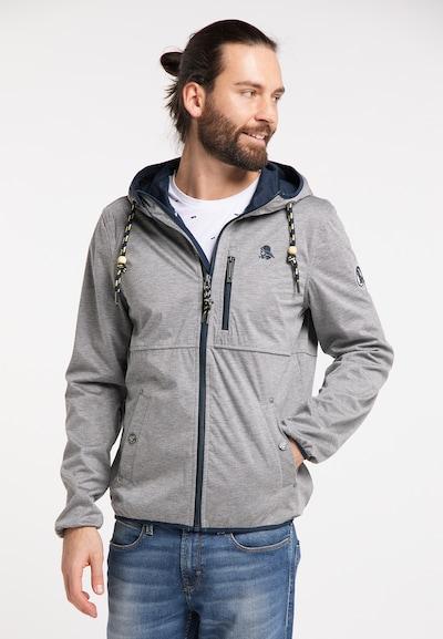 Schmuddelwedda Functionele jas in de kleur Donkerblauw / Grijs gemêleerd: Vooraanzicht