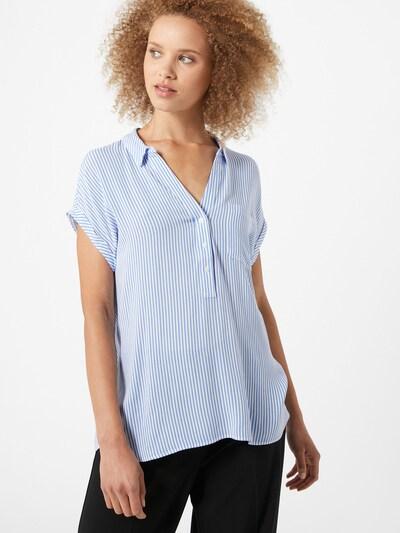 COMMA Bluse in blau / weiß, Modelansicht