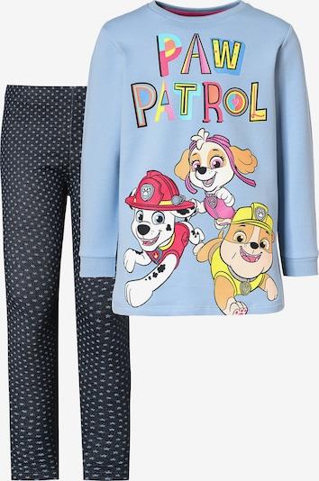 PAW Patrol Set in rauchblau / blue denim / braun / gelb / hellrot, Produktansicht