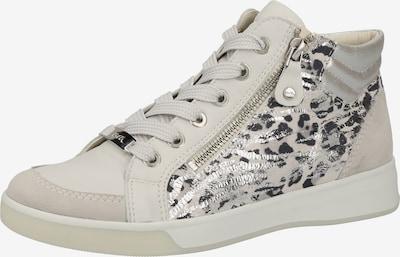 ARA Sneakers hoog in de kleur Zwart / Zilver / Wit, Productweergave