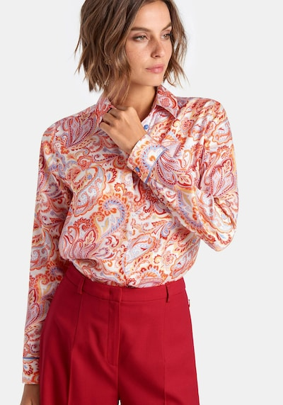 Peter Hahn 'Bluse' in mischfarben / rot, Modelansicht