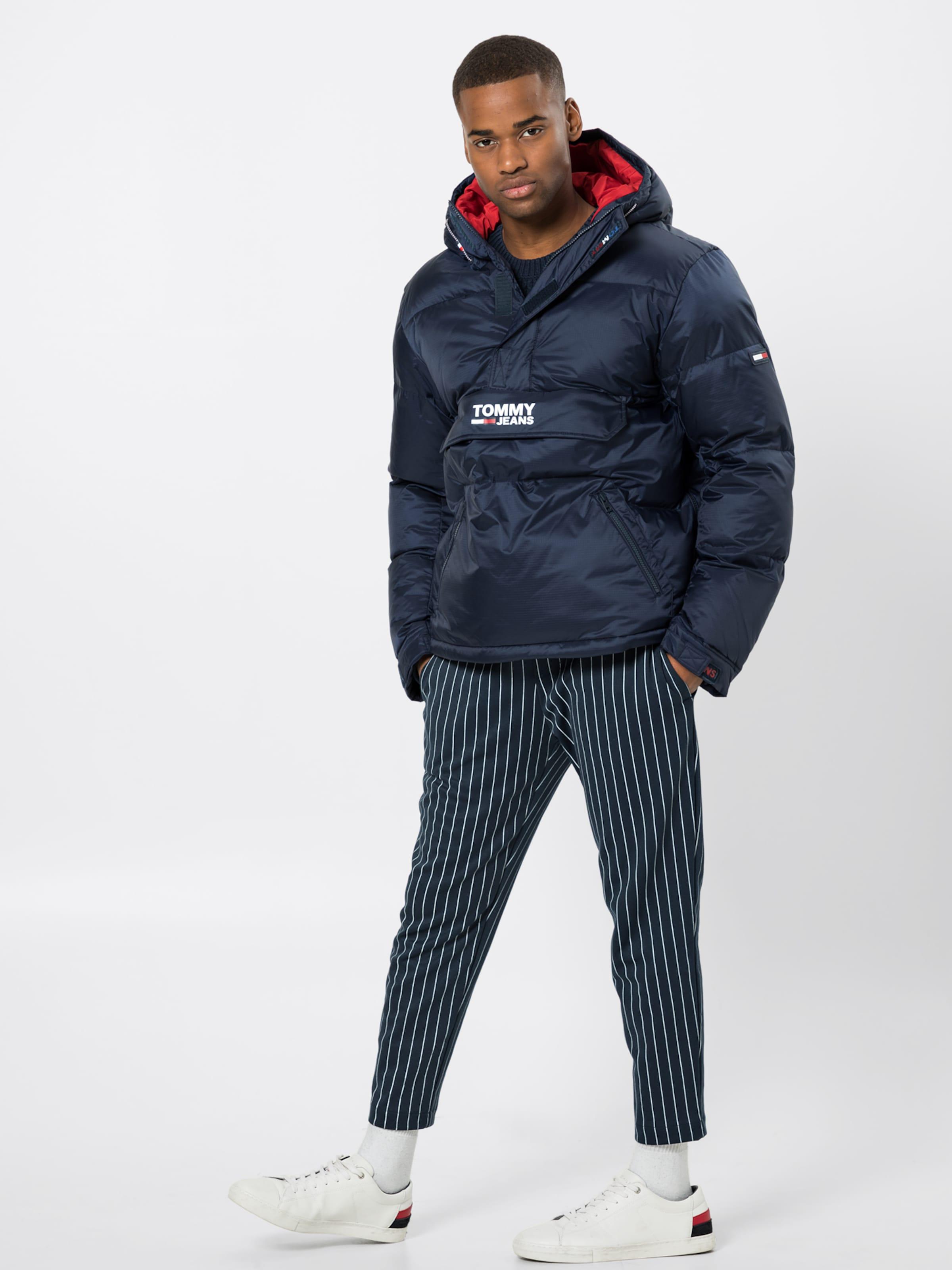 Jeans Tommy 'padded DunkelblauRotmeliert Weiß In Jacke Popover' Nmw8n0