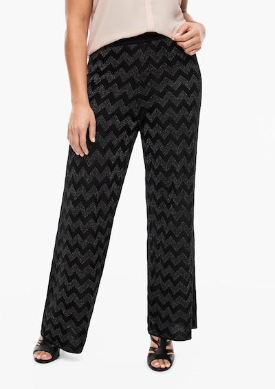 TRIANGLE Hose in schwarz / silber, Modelansicht