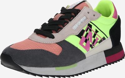 NAPAPIJRI Sneaker 'VICKY' in dunkelgrau / neongrün / mischfarben / altrosa / schwarz, Produktansicht