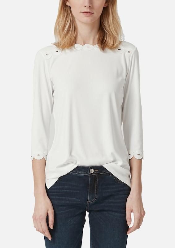 S.Oliver schwarz LABEL Shirt in weiß    Bequem und günstig 1e5e3f