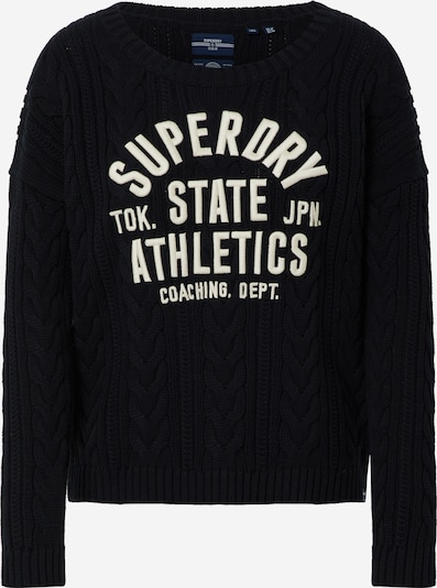 Superdry Trui 'College' in de kleur Navy / Wit, Productweergave
