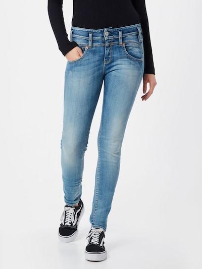 Herrlicher Jeans 'Pearl Slim' in de kleur Blauw denim: Vooraanzicht