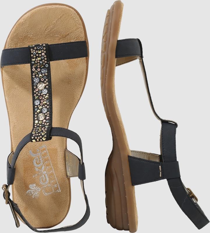 RIEKER Sandale mit Strassbesatz