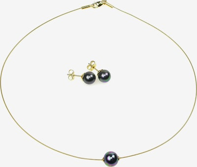 Perlas Orquidea Set 'The Floating Pearl Black' in gold / schwarz, Produktansicht