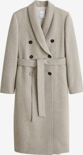 MANGO Manteau mi-saison en gris chiné, Vue avec produit