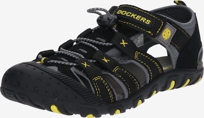 Dockers by Gerli Open schoenen '40TW650' in de kleur Grijs / Zwart, Productweergave