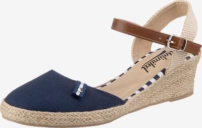 UNLIMITED Sandale in beige / navy / ocker, Produktansicht