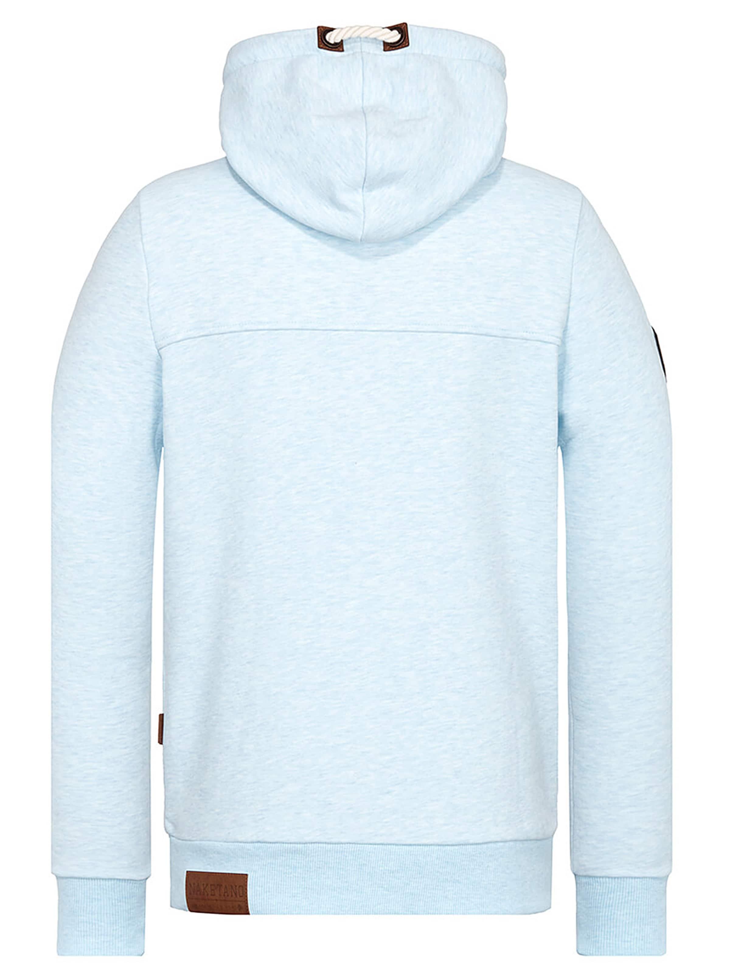 Naketano Amk' ClairMarron shirt 'küfürbaz En Bleu Sweat yN0Pm8wOvn