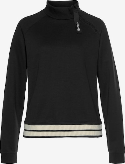 BENCH Sweatshirt in beige / schwarz, Produktansicht