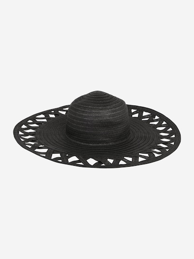 Pălărie 'Amadelia' ABOUT YOU pe negru: Privire frontală