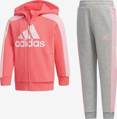 ADIDAS PERFORMANCE Jogginganzug 'LK GFX HDY SET' in grau / pink, Produktansicht