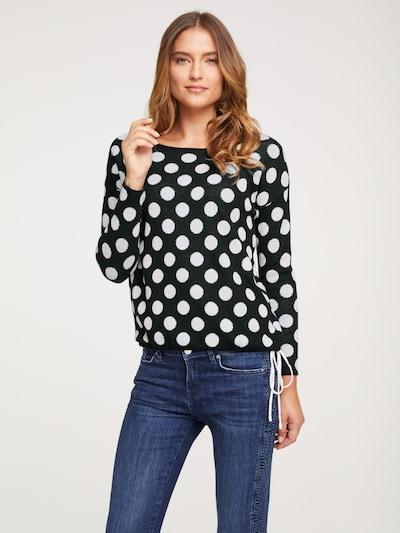 heine Pullover in schwarz / weiß, Modelansicht