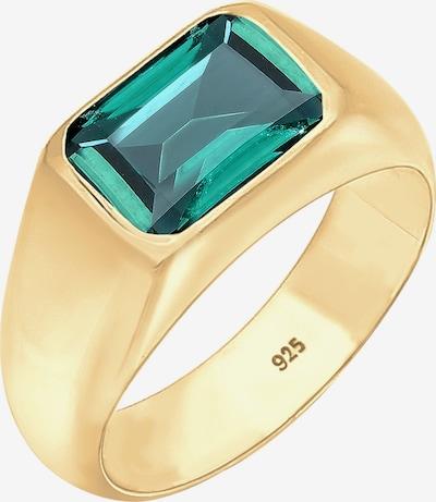 ELLI PREMIUM Ring in gold / grün, Produktansicht