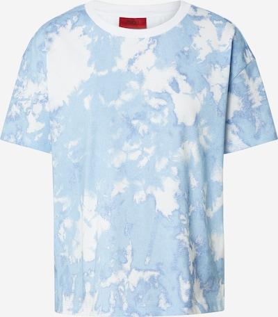 HUGO Shirt 'Deresea_1' in hellblau / weiß, Produktansicht