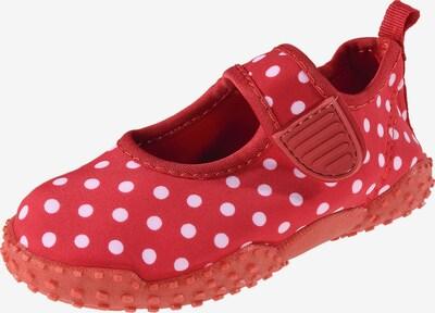 PLAYSHOES Badeschuhe 'Glückskäfer' in rot / weiß, Produktansicht
