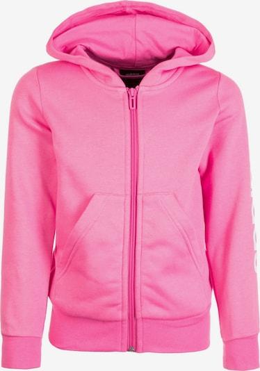 ADIDAS PERFORMANCE Kapuzenjacke 'Essentials Linear' in pink / weiß, Produktansicht