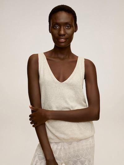MANGO Tops en tricot 'VIVA' en gris clair: Vue de face
