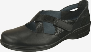 Lei by tessamino Ballet Flats with Strap 'Lisa' in Black