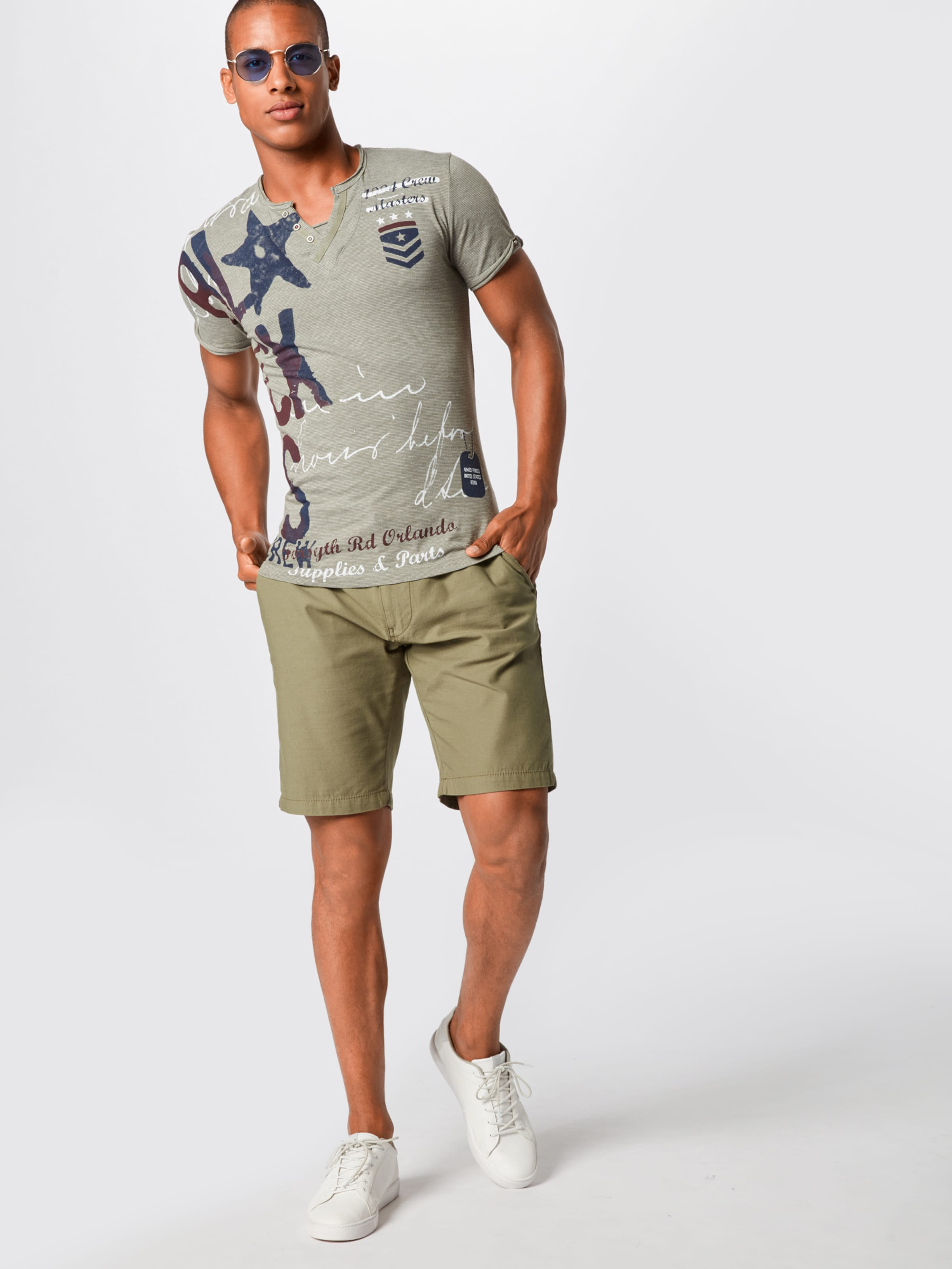 Largo Weiß DunkelblauOliv In Key Shirt rBoedCxW