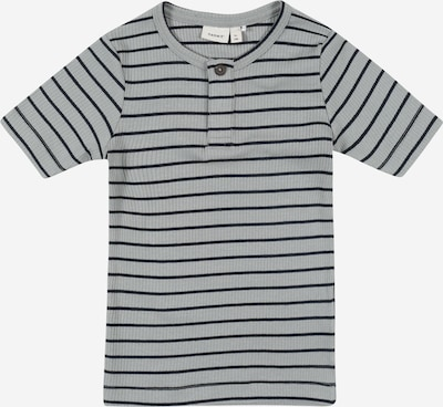 NAME IT Shirt 'Jaco' in grau / schwarz: Frontalansicht