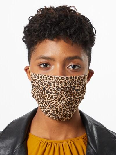 CODELLO Maska z materiału 'Fur' w kolorze brązowy / czarnym: Widok z przodu