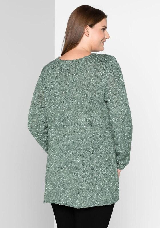 sheego style V-Ausschnitt-Pullover