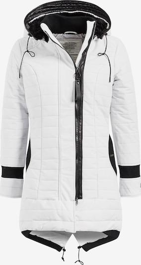 khujo Manteau d'hiver en noir / blanc, Vue avec produit