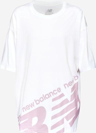 new balance Shirt 'NB ATHLETICS BOYFRIEND T' in de kleur Pink / Wit, Productweergave