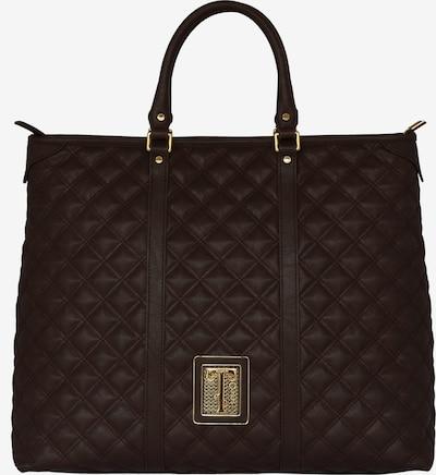 Silvio Tossi Lederhandtasche mit Spezialschutzschicht in braun, Produktansicht