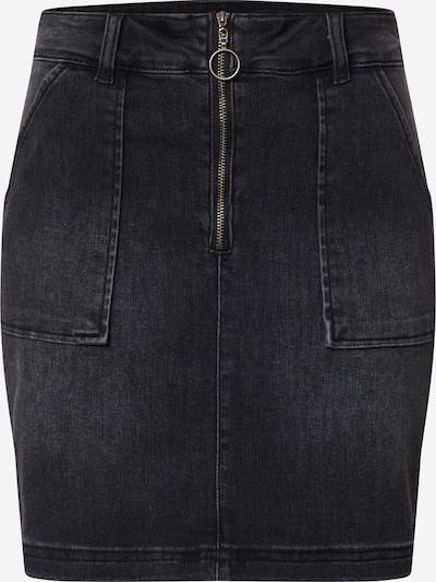 SISTERS POINT Jeansrock 'FENYA-SK1' in black denim, Produktansicht