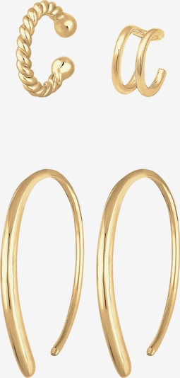 ELLI Ohrring-Set 'Creole, Earcuff' in gold, Produktansicht