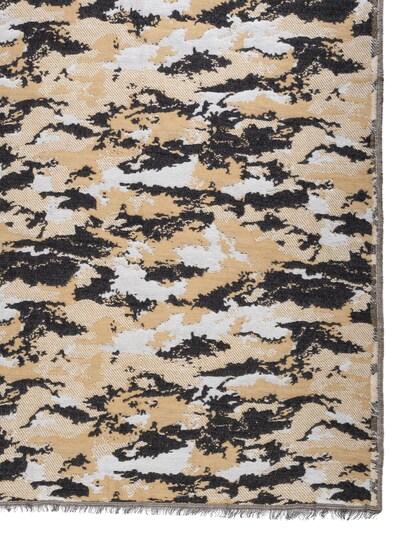 APART Jacquard Schal im Camouflage Style in creme / braun / schwarz, Produktansicht