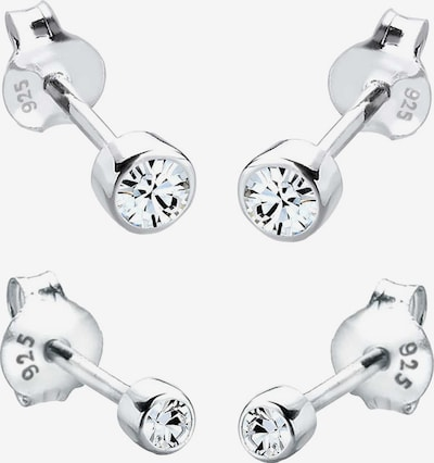 ELLI Ohrringe Set Basic in silber / weiß, Produktansicht